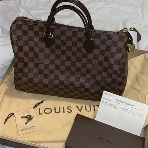 0b237822eb56 Louis Vuitton · LOUIS VUITTON Speedy 35 Damier Ebene